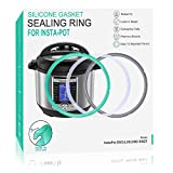 6 Quart Instant Pot Sealing Ring - Replacement Pinch Test 100% Silicone Gasket Seal Rings for 6 Qt Instapot Programmable Pressure Cooker - Insta Pot Accessories Fit for 6QT 3-Pack