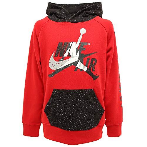 Nike Jordan 956900-R78 - Sudadera con capucha para niño rojo/negro S