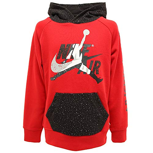 Nike Jordan 956900-R78 Jumpman Classic II - Sudadera con Capucha para niño, Color Rojo Rojo/Negro XL