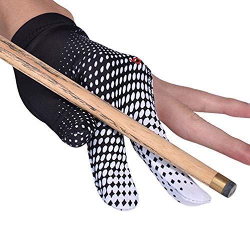 Handschuhe Drei-Finger-Billard-Handschuhe Männer und Frauen Snooker Queue Sport Einteilige Tasche Elastische rechte oder linke Hand.