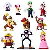 YNK Super Mario Toys, 10 Pcs Figuras de Mario Juguete de PVC de Mario, Super Mario Bros Regalos para...