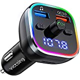 Best Fm Transmitters - VicTsing FM Transmitter for Car, Bluetooth 5.0 Car Review