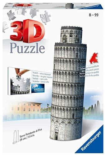 Ravensburger 12557 - Schiefer Turm-Pisa - 216 Teile 3D Puzzle-Bauwerke