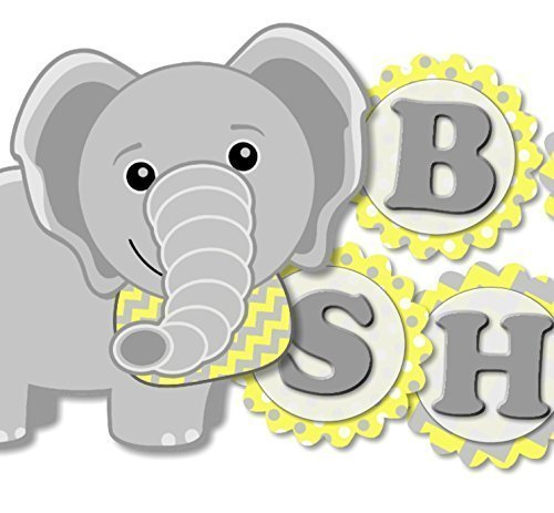 Gender Limited time cheap sale Neutral Yellow Elephant Max 77% OFF Banner - Garland SHOWER Bu BABY