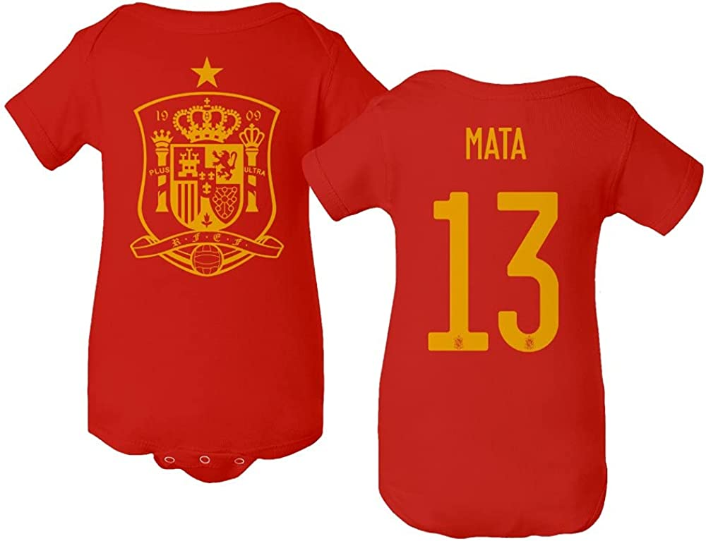Flaura Europea Soccer Max 68% OFF 2020 Spain #13 MATA Juan Ranking TOP14 Jersey Baby Style