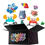 Random style-random multiple colors(Cute fish and shrimp, little crab, little duck and unicorn) Smart toy cars/Exquisite little gift. Exercise children's brain power. Grow better Challenge your friends and family to blind guess what's inside the box....