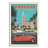 GANZAO Vintage-Reise-Poster Uruguay Montevideo,