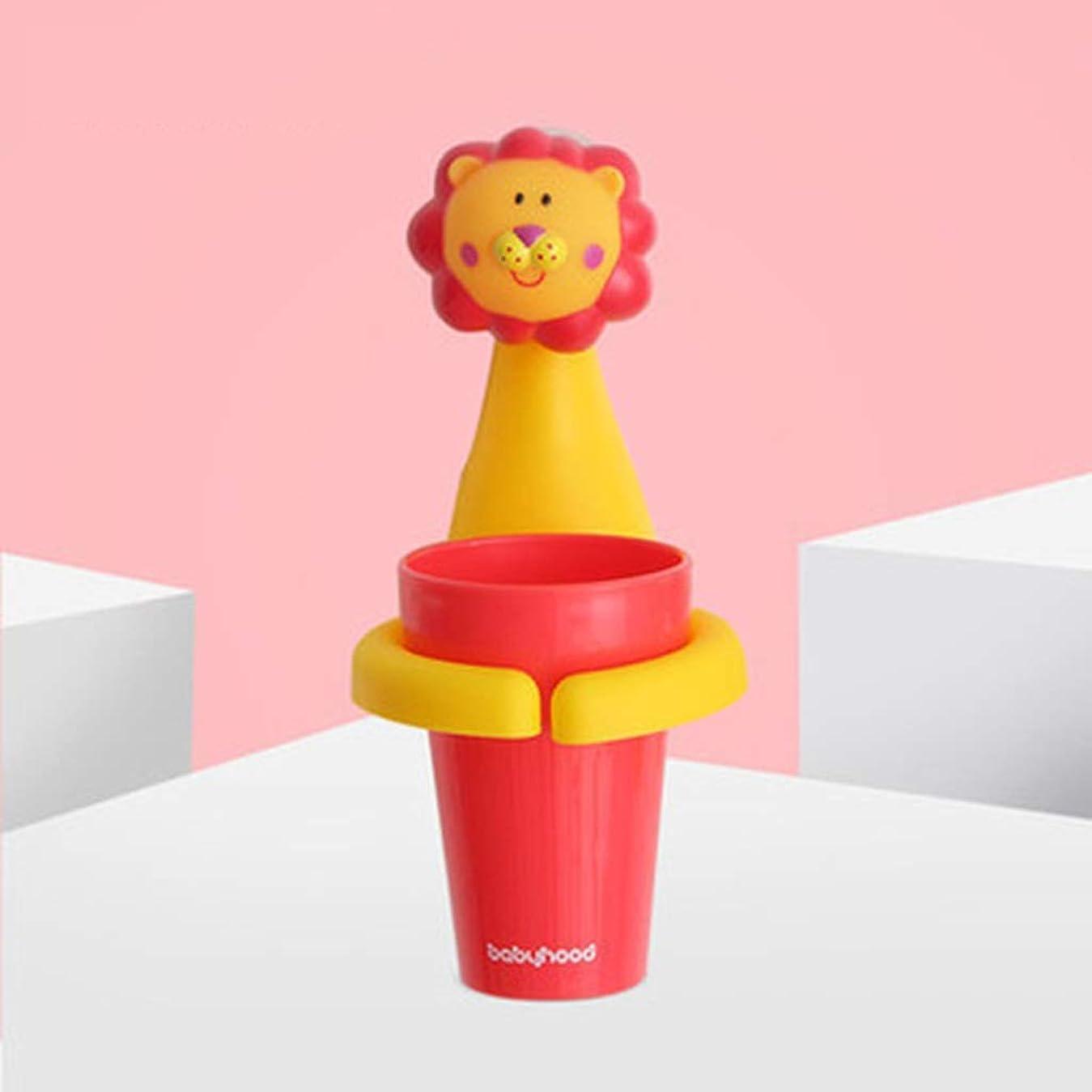 白鳥予測お嬢SGLI 子供の漫画の動物の歯ブラシカップホルダー、プラスチックのかわいい歯ブラシストレージツール (Color : A)