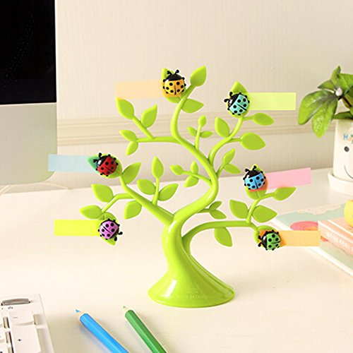 Lucky Tree Dngdom Creative Style Refrigerator Magnet, coccinelle & separato frigorifero, Design Tree-Adesivi magnetici ', idea regalo per gli amici verde