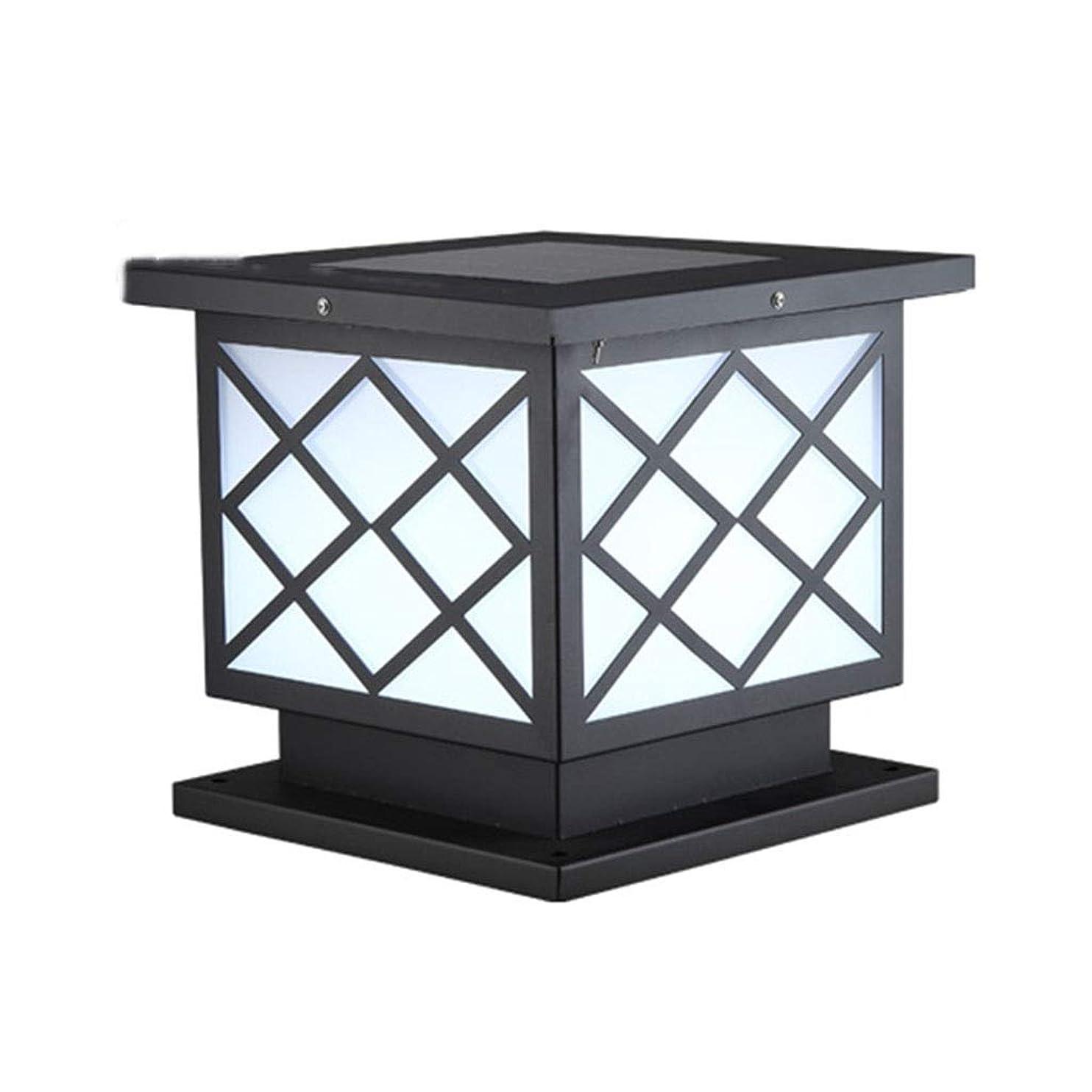 シプリー相反する敬意を表してソーラーコラムヘッドライト 屋外用防水ヴィラガーデンライト 屋外用壁面ライト 壁面ライト (Color : White light, Size : 22*25*26cm)