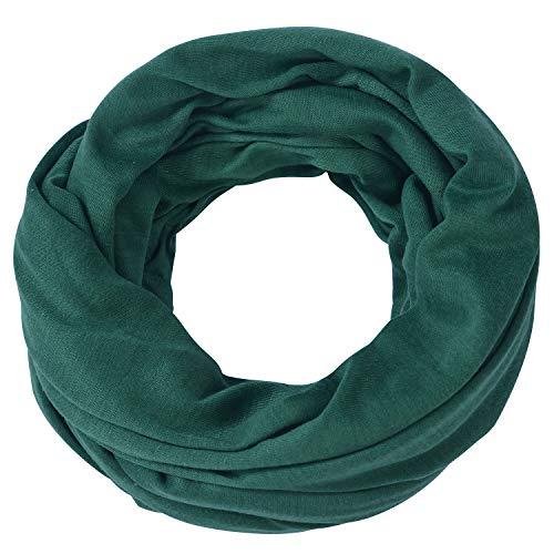 Miobo Loop-Schal für Damen & Herren - Schlauch-Schal für Sommer & Winter - weiches, leichtes Halstuch - Rund-Schal - Snood - Infinity Scarf Patinagrün