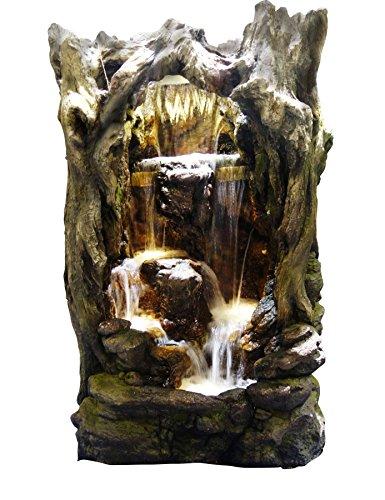 Alpine Rainforest Waterfall Tree Fountain w/LED Lights, 79 Inch Tall
