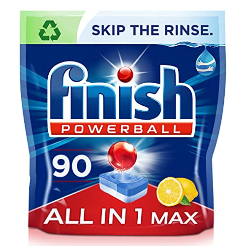 Finish All-in-One Max Dishwasher Tablets, LEMON,...