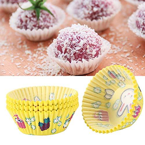 Taza para pastel, colores brillantes Práctica taza para pastel Seguro Fácil de usar para bodas para hornear