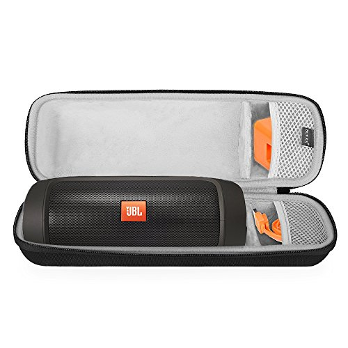 BOVKE for JBL Charge 2 & Charge 2 + Plus Wireless Bluetooth Speaker Hard EVA Shockproof Carrying Case Storage Travel Case Bag Protective Pouch Box, Black