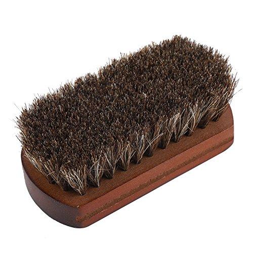 Raguso Cepillo de zapatos de crin cepillo de zapatos para el polvo de grasa eliminación de suciedad accesorio de zapatos