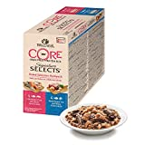 Wellness CORE Signature Selects Wet Cat Food / Natural / Grain-Free / Complete - Flaked Selection Multipack, 8 x 79 g cans
