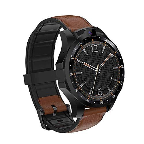 OH Reloj Inteligente Clásico, Relojes de Pantalla Grande con 4G Llamada/Internet Video/Cámara Bluetooth Pago/Impermeable/Chat/Podómetro para Los Hombres Reloj Deportivo, N