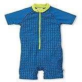 Sterntaler Baby-Jungen Schwimmanzug Krokodil Badeanzug, blau, 92