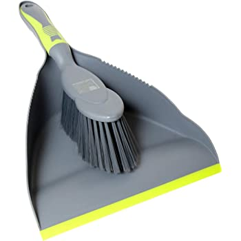 ELITRA Handy Dustpan and Brush Set for Home Kitchen Floor - Gray Green