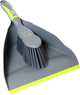 ELITRA Handy Dustpan and Brush Set for Home Kitchen Floor - Gray Green (1 Pack)