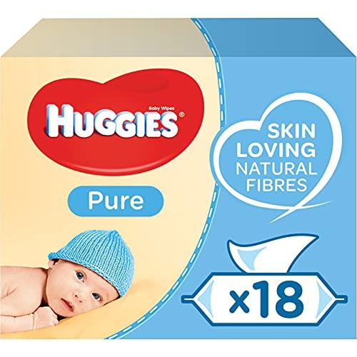Huggies Pure Baby Wipes Bulk - 99 Percent Water, Sensitive, Fragrance Free,...