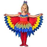 amscan 9903519 Costume de fée Perroquet pour Enfant Multicolore 128 cm