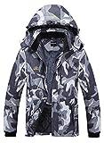 Men's Waterproof Ski Jacket Fleece...