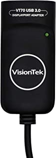 VisionTek VT70 USB 3.0 to DisplayPort Adapter (901225) | Supports 4K Display @ 30Hz