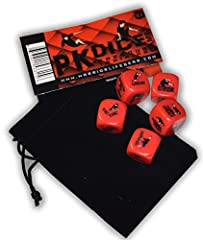 WORKOUT in a creative new way! LARGE 19mm (3/4-inch) Durable Plastic Dice with 30 ILLUSTRATED PARKOUR MOVES. Includes black velvet drawstring carrying bag. Includes 14-PANEL INSTRUCTIONAL BOOKLET with illustrations and descriptions of all moves. It i...