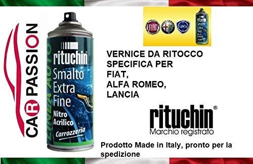car passion Kit Vernice RITOCCO 601 Nero Cinema Donatello Fiat Alfa Romeo Lancia Jeep VERNICIATURA CARROZZERIA Auto BOMBOLETTA Spray 200ml
