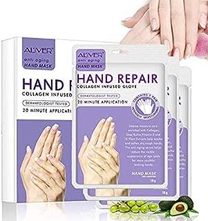 Moisturizing Hand Mask Gloves 3 Pack, Hand Mask Spa Gloves Moisture Enhancing Gloves for Dry Hands,Repair Rough Damage Skin for Women & Men (hand mask)