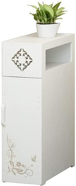 Floor Locker Bathroom Toilet Side Cabinet Floor Standing Waterproof Storage Cabinet Kitchen Storage Rack Color White Size 452066cm