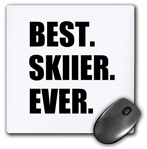 3drose Best Skier Ever - Fun Gift for Talented Skier - Winter Sports Athlete - Mouse Pad