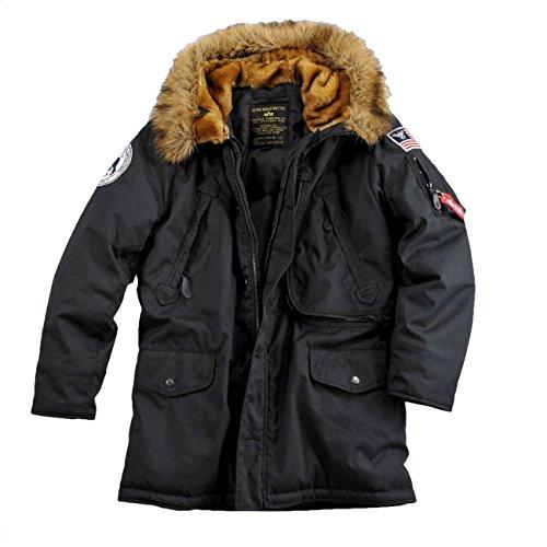Alpha Industries Polar Jacket Herren Jacke Winterjacke Parka 30061 (L, black)