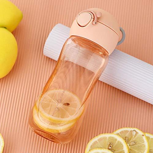 XIXISA Botellas de Agua Potable para niños ecológicas BPA Free Tritan Botella para niños Hervidor Escolar a Prueba de Fugas PortableTravel Sports Bottle-B