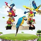 Wintesty Große Papageienschaukel Vogelschaukel Schaukel Papageienspielzeug, Hanfseilnetze Für Sittiche Nymphensittiche, Sittichen, Aras, Papageien, Liebesvögel, Finken Tremendous