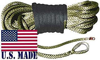 10 inch Aluminum Hawse CTCAUTO 3//8in X 95ft Synthetic Winch Rope