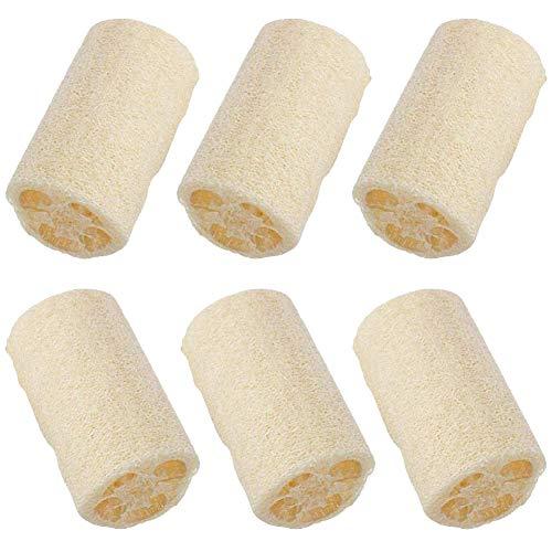 BESTZY Natural Loofah 6 Piezas Loofah Esponjas Limpieza de la piel exfoliación Limpiar Tazón Plato de Lavado de Múltiples Funciones