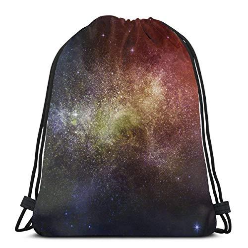 Molelanki Star Nebulas and Galaxies Sac à Dos extérieur Unisexe Sac à bandoulière Sac à Dos à Cordon de Voyage 36 x 43 cm / 14,2 x 16,9 Pouces