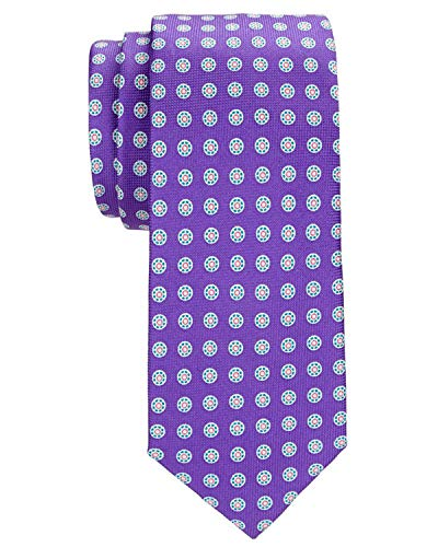 Tommy Hilfiger Men's Timing Sprocket Silk Tie Purple Neckties
