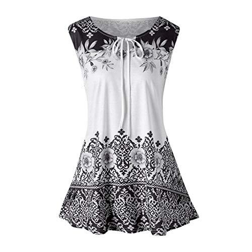 Canotta Boho Floral Summer Sleeveless Camicetta Camicetta Fashion Plus Size Printed Canotte...