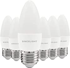 E27 LED Candle Light Bulb, B35 Shape with Milky Diffuser, 5 Watt, Netrual White 4000K & RA≈92 High Color Rending, 500 Lume...