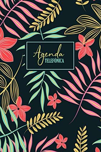 Agenda Telefónica: Diseño floral | Direcciones y números de teléfono y contactos de correo electrónico | Libreta personal de direcciones, 6 x 9 ... de direcciones para uso comercial y personal
