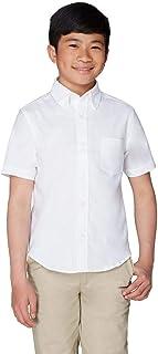 French Toast Boys' Short Sleeve Oxford Dress Shirt...