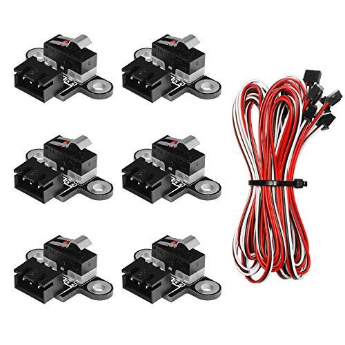 Genmitsu 6 x Mikro-Endschalter mit 1 m 3-poligem Kabel für 3018-PROVER/3018-MX3/3018-PROVer Mach3