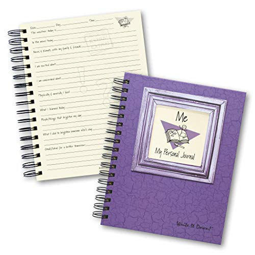 """Journals Unlimited """"Write it Down!"""" Series Guided Journal, Me, My Personal Journal, with a Purple Hard Cover, Made of Recycled Materials, 7.5""""x 9"""" Photo #6"""