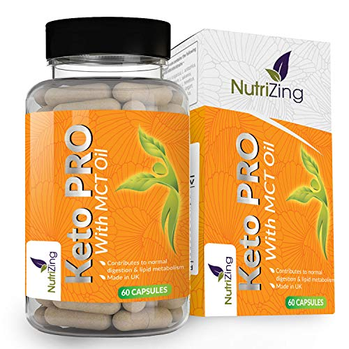 Keto Pro Diet Pills for Men & Women - Advanced Formulation with Green Tea Extract and MCT Oil - Supports Normal Digestion & Lipid Metabolism - 11 Vitamins & Minerals - Made in UK by NutriZing