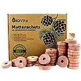 Natürlicher Mottenschutz aus Zedernholz – 40 Mottenringe – 100%...