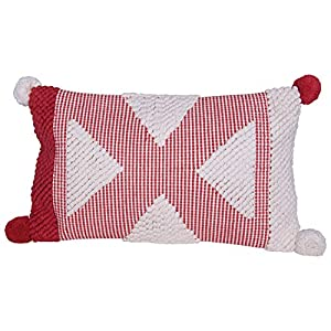 """Add fun to this holiday season with a special Christmas pillow Transform the bedroom for the holidays by simply adding festive pillows Perfect for adding to a couch, chair, bench or window seat 26""""L x 3""""W x 14""""H"""